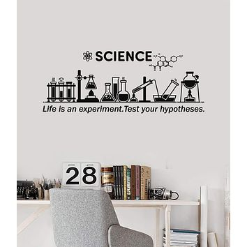 Vinyl Wall Decal Science Inspire Chemical Lab School Classroom Decor Stickers Mural (ig5306)