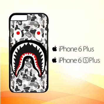 A Bathing Ape White Camo Shark J0025 iPhone 6 Plus|6S Plus Case