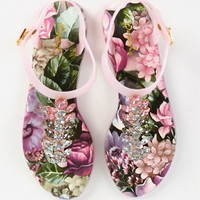 Qupid Cove-02 Jewel Floral Slingback Sandals | MakeMeChic.com