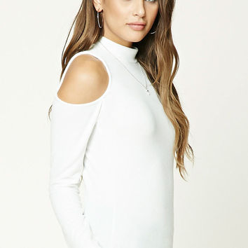 Fuzzy Open-Shoulder Top