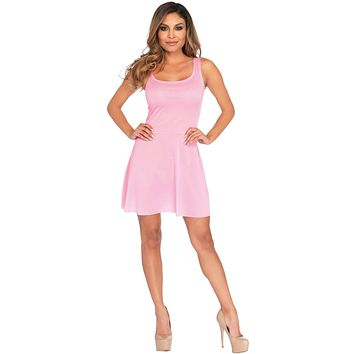 Basic Skater Dress Ad Pink