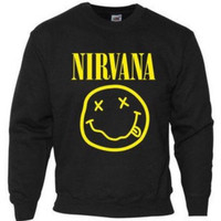 Nirvana music band  sweatshirt jumper pullover  hoody unisex xs-xl.