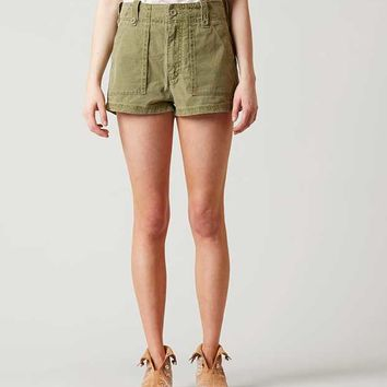 FREE PEOPLE HIGH RISE MILITARY SHORT