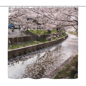 Blossoms In The Park Shower Curtain