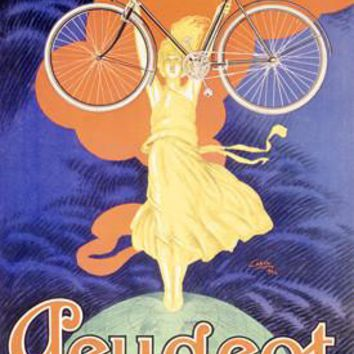 Peugeot Bicycle Paris Ad Fine Art Print