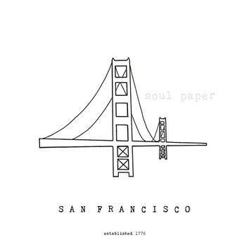 San Francisco Bridge Illustration