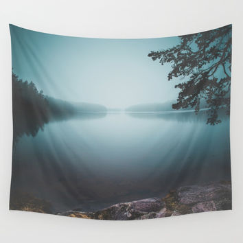 Lake insomnia Wall Tapestry by HappyMelvin