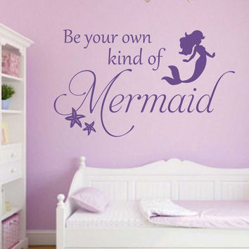 Be Your Own Mermaid Starfish Decal | Vinyl Wall Lettering