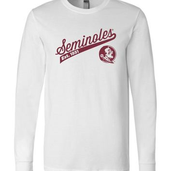 Official NCAA Florida State University Seminoles FSU Noles Est. 1851 Long Sleeve T-Shirt - 43FSU-1