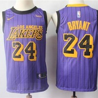 DCCK 2019 LA Lakers 24 Kobe Bryant City Edition Jersey