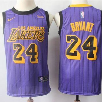 PEAP 2019 LA Lakers 24 Kobe Bryant City Edition Jersey