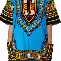 Dashiki Shirt African dress Tribal Festival Kaftan Style Boho Hippie Shirt Women Caftan Dress Adults Vintage Handmade Colorful Bohemian