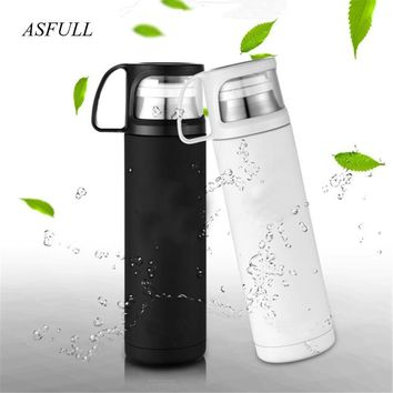Thermos cup Thermos Mug Vacuum Cup 304 Stainless Steel insulated Mug 500ML Thermal Bottle Thermoses vacuum flask water bottle