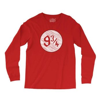 9 3 4 nine three quarters harry potter hogwarts Long Sleeve Shirts