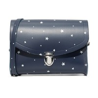Star Print Push Lock Bag