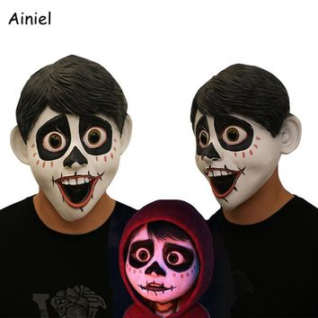 Cool Movie Anime CoCo Miguel Mask Cosplay Costume Halloween Full Head Face Scary Latex Fancy Ball Helmet Props Masks Men Adult KidsAT_93_12