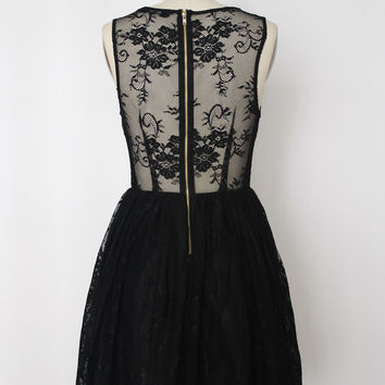 Classic Lace Dress With Backless Detail (Ark & Co.)