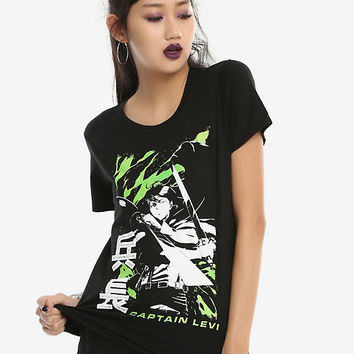 Attack On Titan Captain Levi Girls T-Shirt