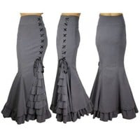 Dark Empress Skirt Gray