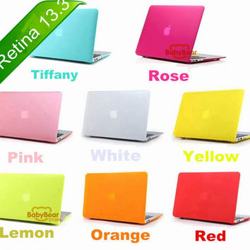 "Transparent / Matte Rubberized Hard Case for MacBook Pro 13.3"" with Retina Display A1502 / A1425 For Macbook Retina 13 inch"
