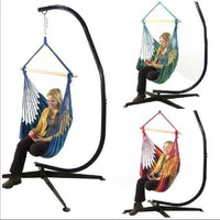Hanging Hammock Swing And C Stand Combo 3 Colors Outdoor Swinging Chair Patio