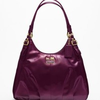 COACH MADISON PATENT MAGGIE SHOULDER BAG | Dillards.com