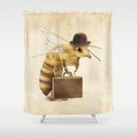 Worker Bee Shower Curtain by Eric Fan | Society6