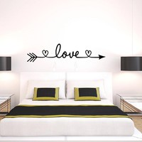 New Design Love Arrow Wall Decals Vinyl Removable Bedroom Wall Stickers Home Decor Living Room