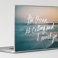 The Ocean is Calling by Laura Ruth and Leah Flores Laptop & iPad Skin by Leah Flores | Society6