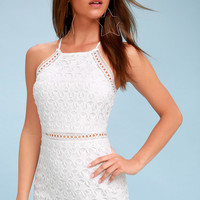 Come On Nova White Crochet Lace Dress