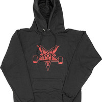 Thrasher Blackout Hoodie/Sweater XLarge Black/Red