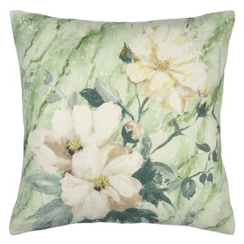 Designers Guild Carrara Fiore Verde Decorative Pillow