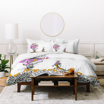Deb Haugen Ink Funky Girl Duvet Cover