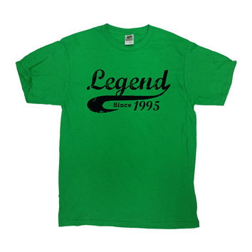 Funny Birthday Shirt Legend Since 1995 Any Year 21st Gift 21 Years Old