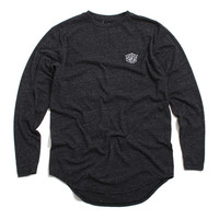 Triboro Longsleeve Scoop T-Shirt Tri-Black