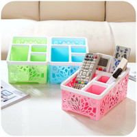 New Colorful Makeup Organizer Plastic Home Storage Box 13.5*19*10cm Organizer Bathroom Cosmetic Organizer Pink Green Blue