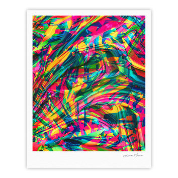 "Danny Ivan ""Wild Abstract"" Rainbow Illustration Fine Art Gallery Print"
