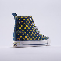 Michigan Wolverines Official NCAA Skicks Unisex High Top Sneakers