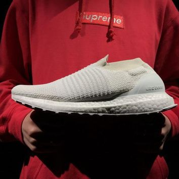 hcxx ULTRABOOST LACELESS SHOES 2018  All White