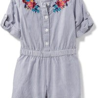 Button-Front Romper for Baby | Old Navy