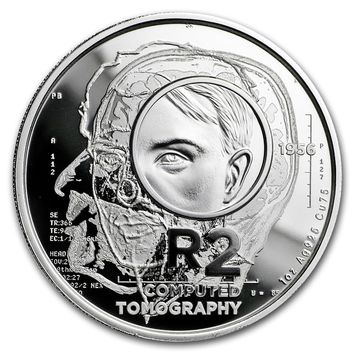 2018 South Africa 1 oz Silver Proof South African Inventions: CT Scan