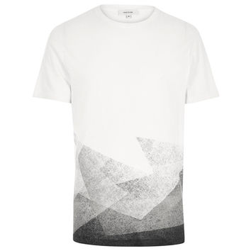 Abstract White Angles T-Shirt