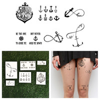 Tall Ships   Temporary Tattoo Set of 6 by Tattify on Etsy