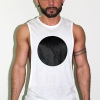 Eclipse Low Armhole Tank- White
