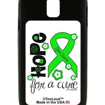 Hope for a Cure - Lime Green Ribbon Lyme Disease - Flowers Galaxy Note 3 Case  by TooLoud