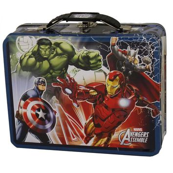 Avengers Blue Tin Lunch Box
