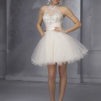Short Homecoming Dresses From Sticks And Stones By Mori Lee Dress Style 9289 Tulle with Satin and beading