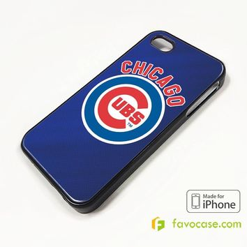 CHICAGO CUBS iPhone 4/4S 5/5S/SE 5C 6/6S 7 8 Plus X Case Cover
