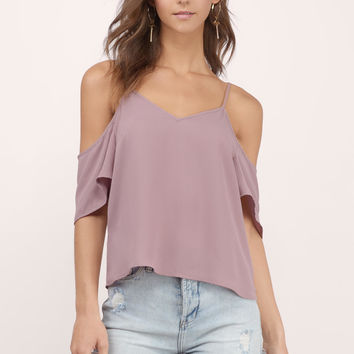 Amberly Cold Shoulder Top