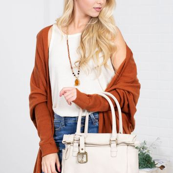 Cinnamon Brown Loose Cardigan